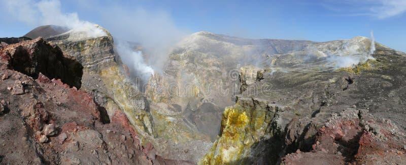 Kratery Etna fotografia royalty free