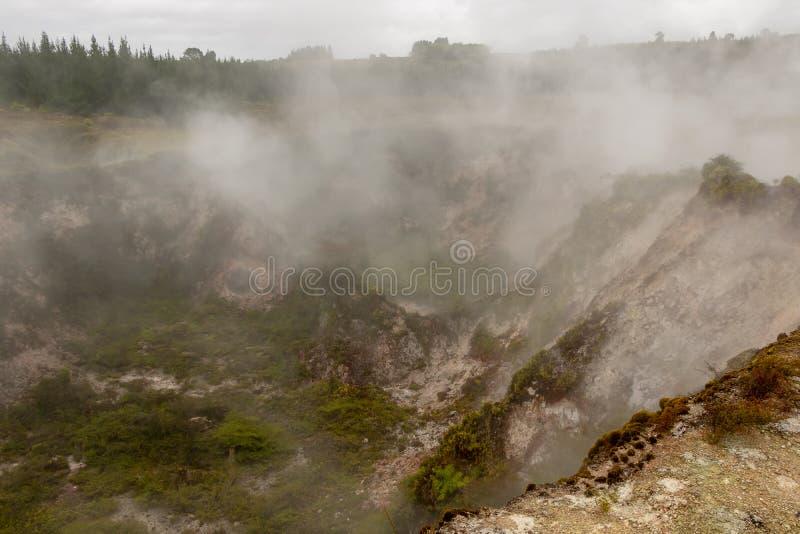 Kratery księżyc, Taupo, Nowa Zelandia obraz royalty free
