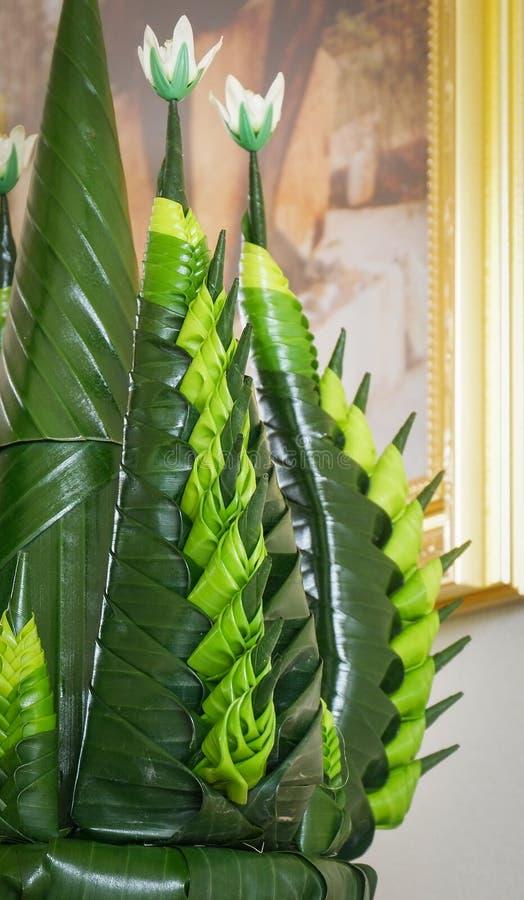 Krathong od bananowego liścia zdjęcie stock