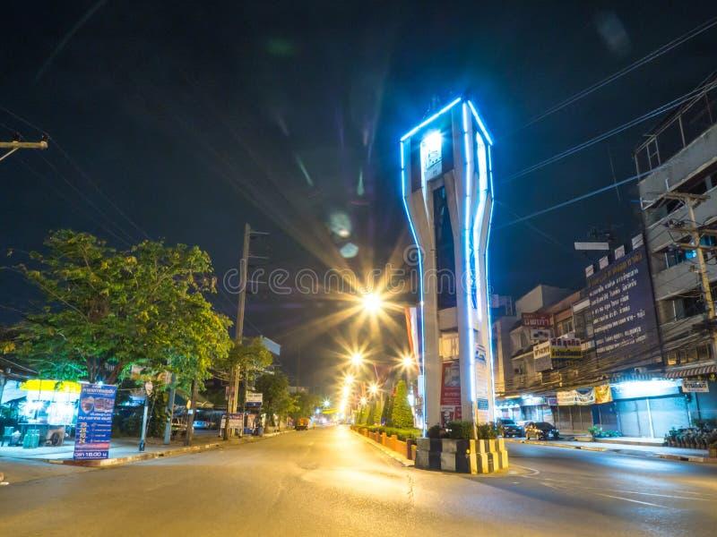 KrathumBaen bij nacht in Thailand royalty-vrije stock fotografie