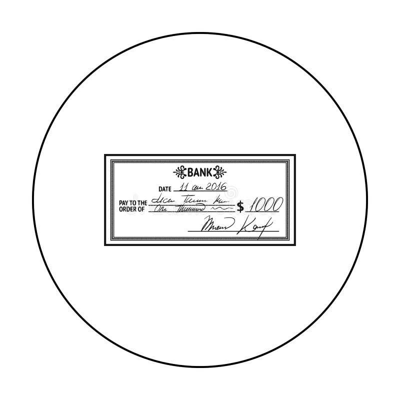 Kratki ikona w konturu stylu odizolowywającym na białym tle Pieniądze i finanse symbolu zapasu wektoru ilustracja royalty ilustracja