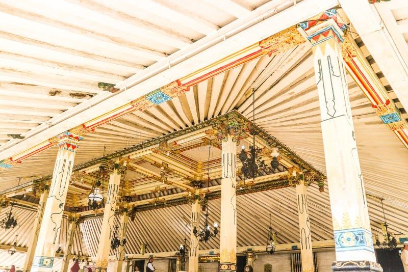 Kraton completamente da cultura em Yogyakarta fotografia de stock