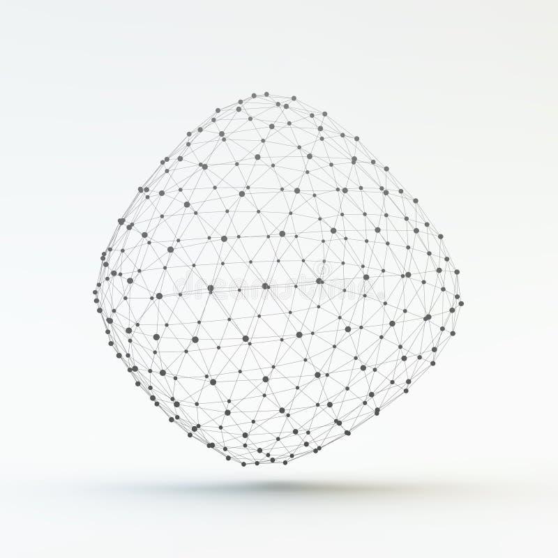 Kratownica Geometryczny Poligonalny element Podłączeniowa struktura ilustracja wektor
