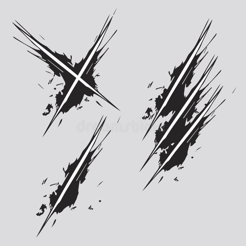 Kratzer-Vektor vektor abbildung