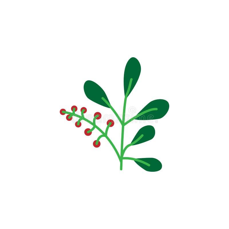 Kraut, Beerenikone Element der Krautikone für mobile Konzept und Netz Apps Ausführliches Kraut, Beerenikone kann für Netz benutzt stock abbildung