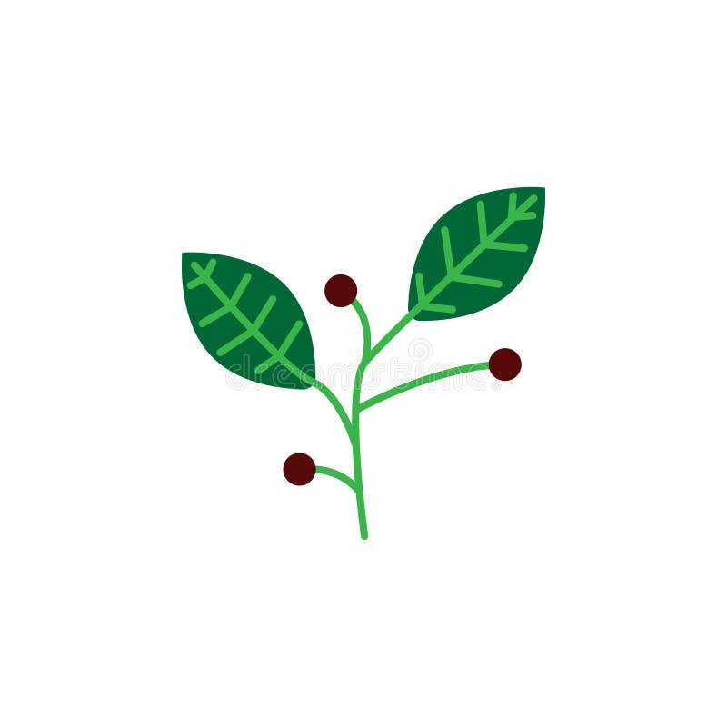 Kraut, Beerenikone Element der Krautikone für mobile Konzept und Netz Apps Ausführliches Kraut, Beerenikone kann für Netz benutzt vektor abbildung