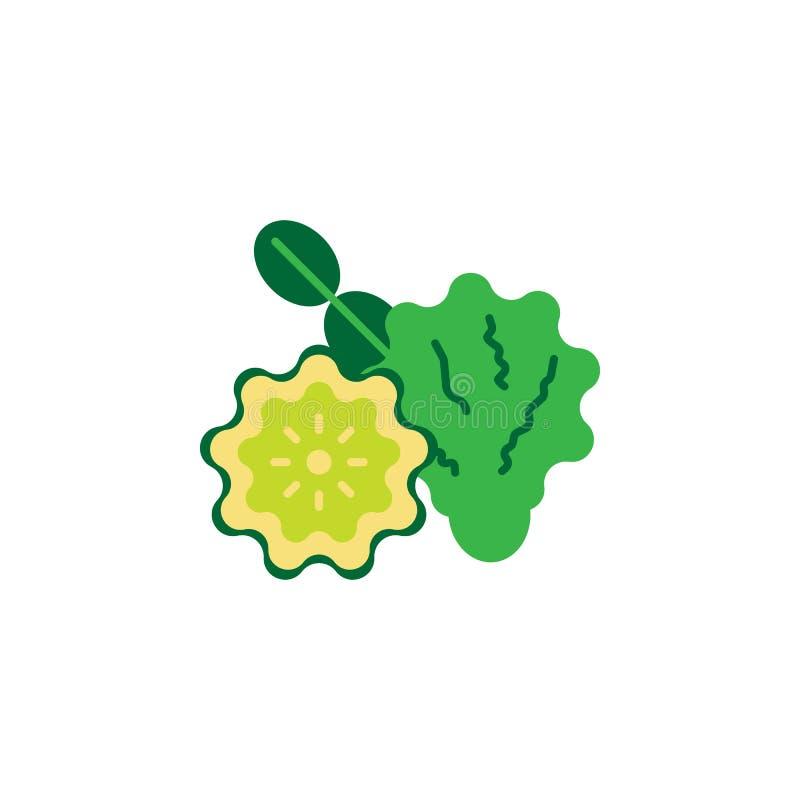 Kraut, Bergamottenikone Element der Krautikone für mobile Konzept und Netz Apps Ausführliches Kraut, Bergamottenikone kann für Ne vektor abbildung