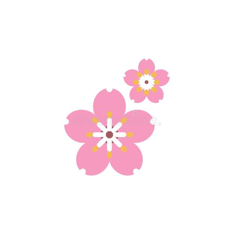 Kraut, Kirschblüte-Ikone Element der Krautikone für mobile Konzept und Netz Apps Ausführliches Kraut, Kirschblüte-Ikone kann für  stock abbildung