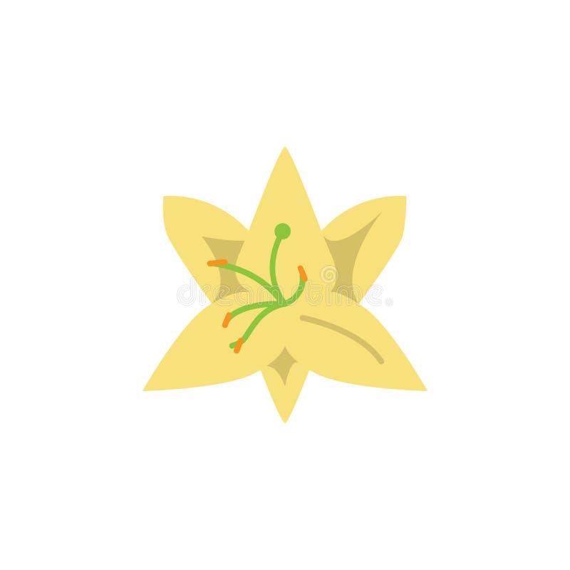 Kraut, Lilienikone Element der Krautikone für mobile Konzept und Netz Apps Ausführliches Kraut, Lilienikone kann für Netz und Mob lizenzfreie abbildung