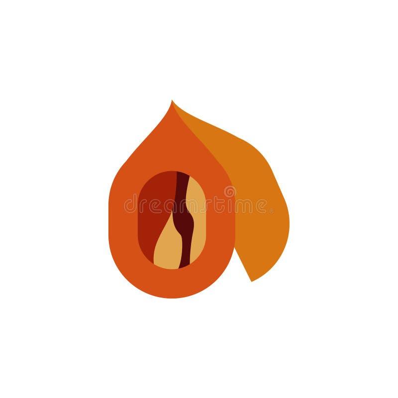 Kraut, Nussikone Element der Krautikone für mobile Konzept und Netz Apps Ausführliches Kraut, Nussikone kann für Netz und Mobile  stock abbildung