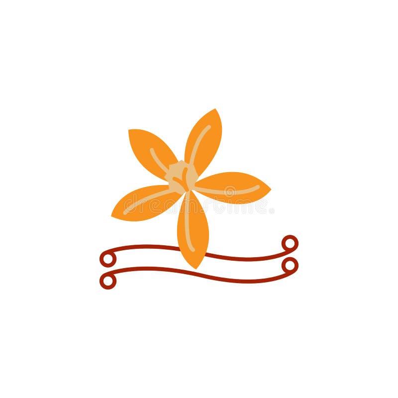 Kraut, Vanilleikone Element der Krautikone für mobile Konzept und Netz Apps Ausführliches Kraut, Vanilleikone kann für Netz benut vektor abbildung