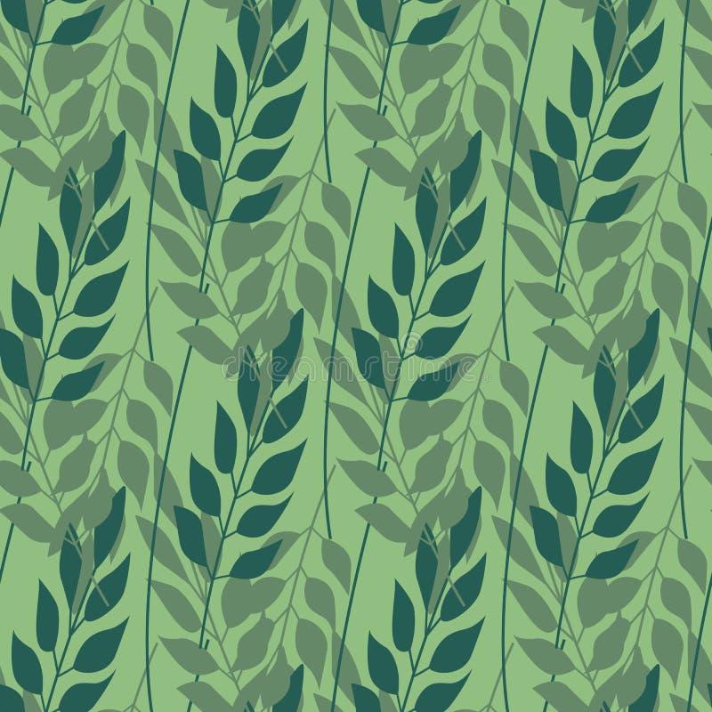 Kraut verlässt nahtloses Muster, die Mode, Innen und wickelt Konzept ein stock abbildung