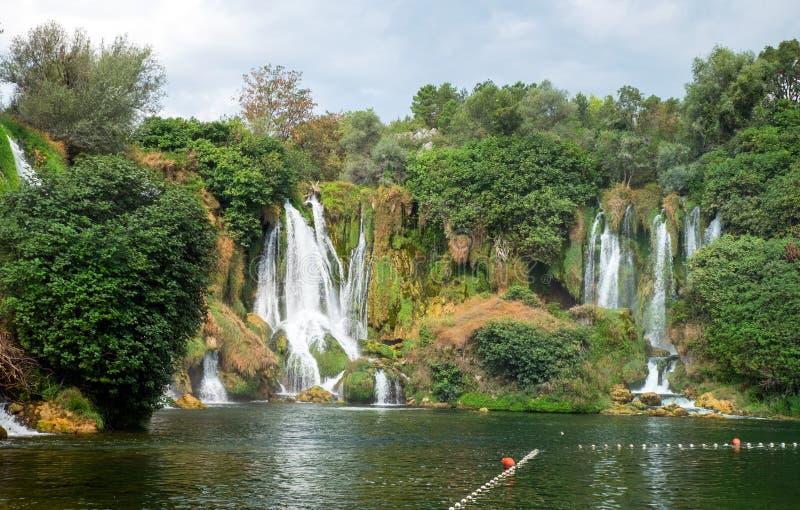Kravica Kravice Waterfall na Bósnia e Herzegovina fotos de stock royalty free