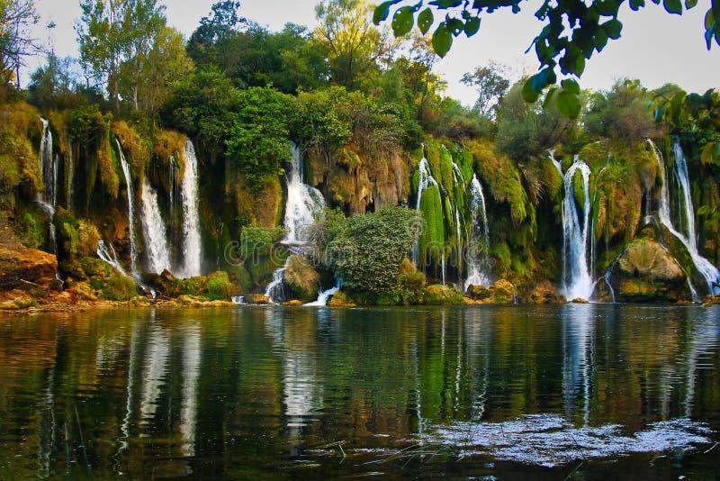 Kravica waterfalls on river Buna stock image