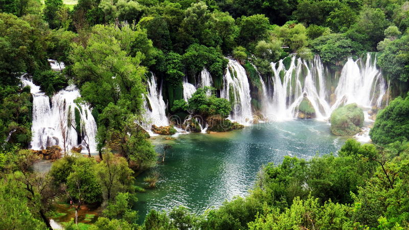 Kravice Falls, Bosnia & Herzegovina. The untouched Kravice Falls in Bosnia & Herzegovina stock photos