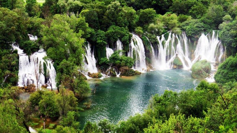 Kravice nedgångar, Bosnien & Hercegovina arkivfoton