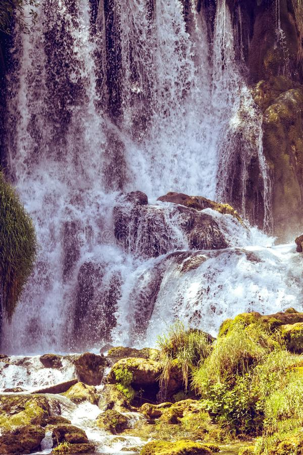 Kravice waterfall on the Trebizat River in Bosnia and Herzegovina in autumn.  Miracle of Nature in Bosnia and Herzegovina. The. Kravice waterfalls, originally royalty free stock images