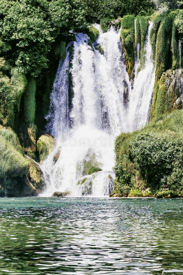 Kravice waterfall on the Trebizat River in Bosnia and Herzegovina.  Miracle of Nature in Bosnia and Herzegovina. The Kravice water. Falls, originally known as royalty free stock photography