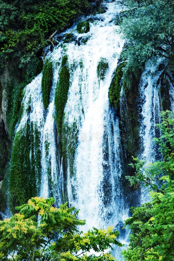 Kravice waterfall on the Trebizat River in Bosnia and Herzegovina.  Miracle of Nature in Bosnia and Herzegovina. The Kravice water. Falls, originally known as stock photography