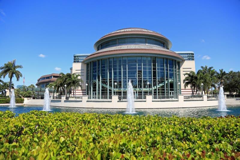 Kravis centrum w Zachodni palm beach fotografia stock