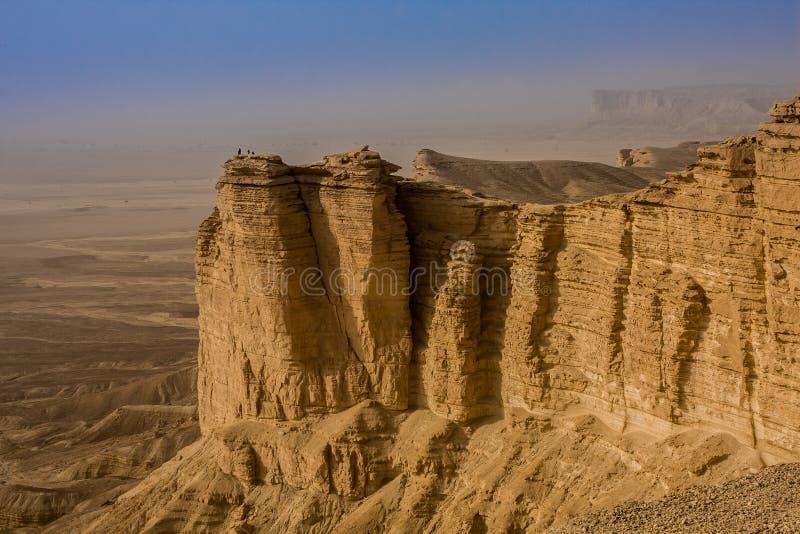 Krawędź świat, popularny turystyczny miejsce przeznaczenia blisko Riyadh, Arabia Saudyjska zdjęcie royalty free
