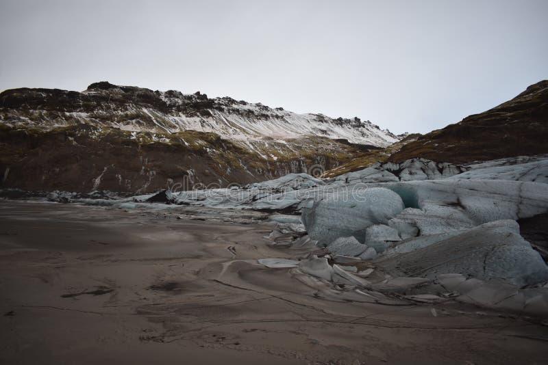 Krawędź Islandzki lodowiec obrazy stock