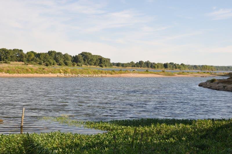Krawędzie Loire przy Bouchemaine obraz stock