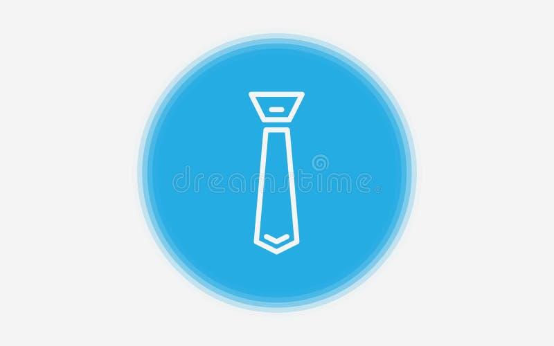 Krawat ikony znaka wektorowy symbol royalty ilustracja