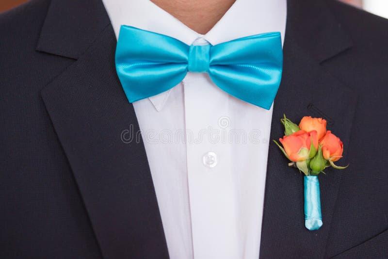 Krawat na kostiumu zdjęcie stock