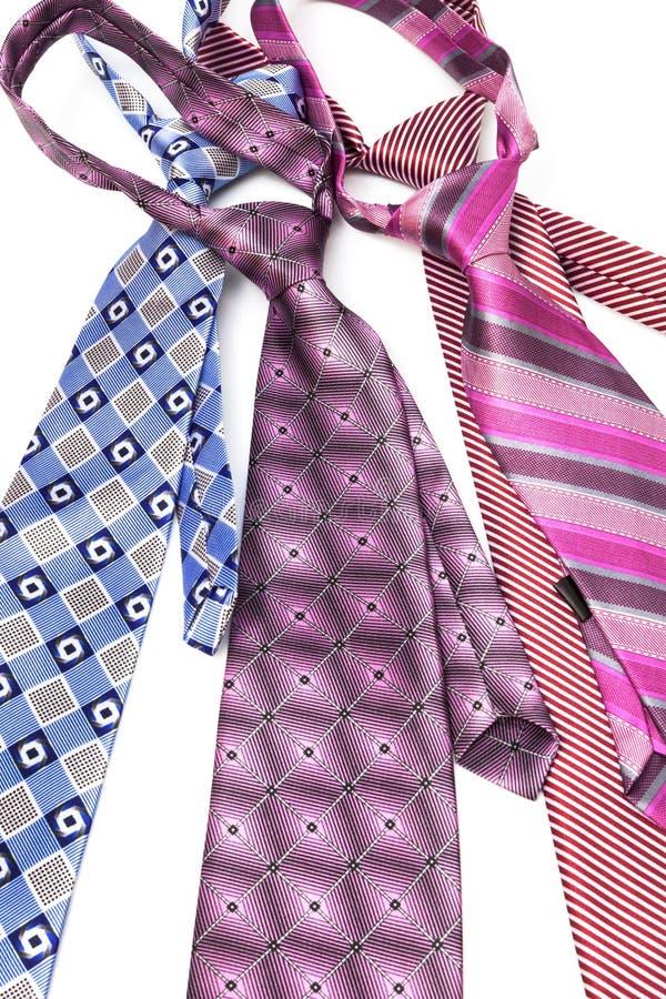 Krawatte vier geknotet stockfoto