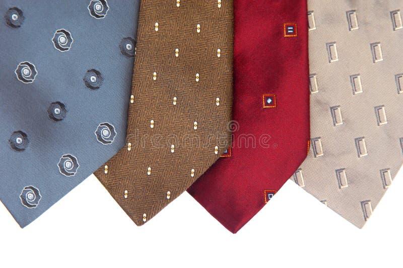 Krawaty izolowane na białym tle obraz royalty free