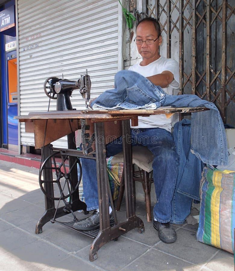 Krawczyna na ulicie Bangkok obraz royalty free