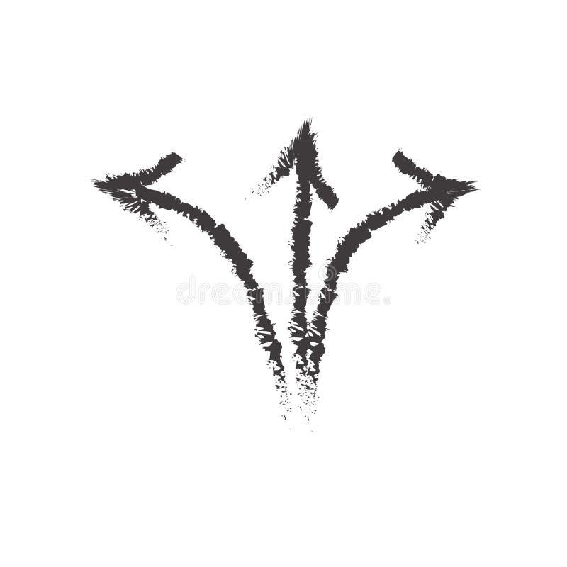Kreślący ikona wektoru znak, strzałkowaty symbol odizolowywający na białym bac i royalty ilustracja