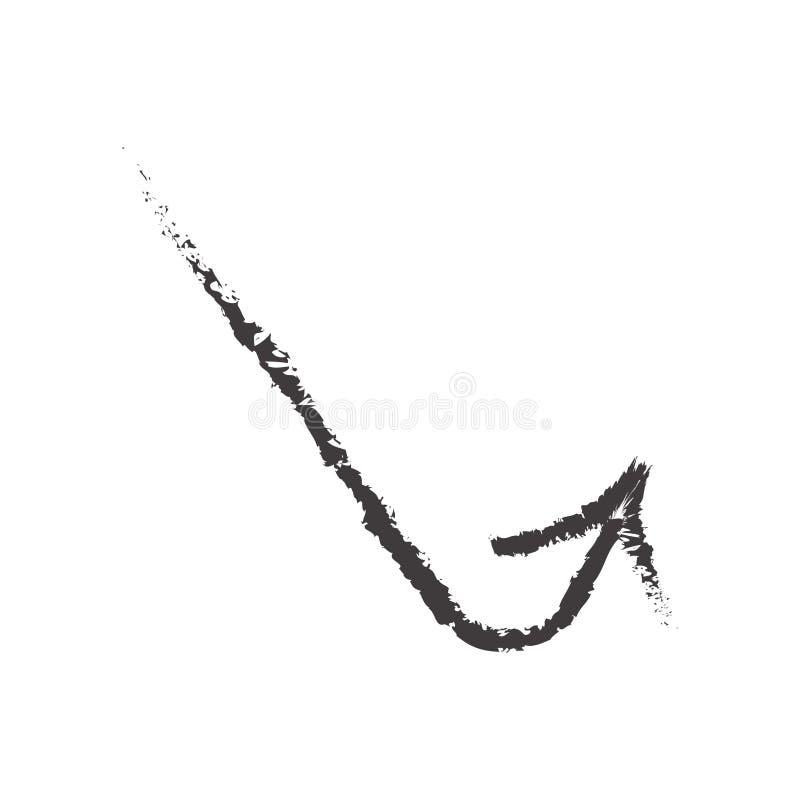 Kreślący ikona wektoru znak, strzałkowaty symbol odizolowywający na białym bac i ilustracja wektor