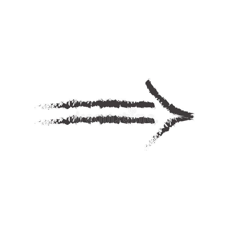 Kreślący ikona wektoru znak, strzałkowaty symbol odizolowywający na białym bac i ilustracji