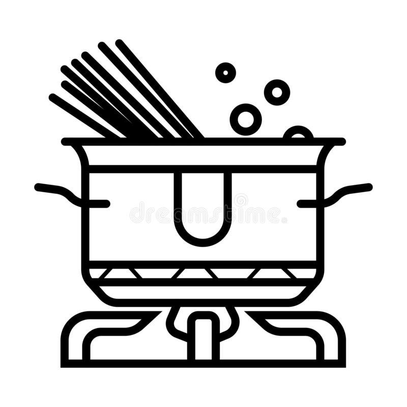 Kreślący Kulinarny spaghetti royalty ilustracja