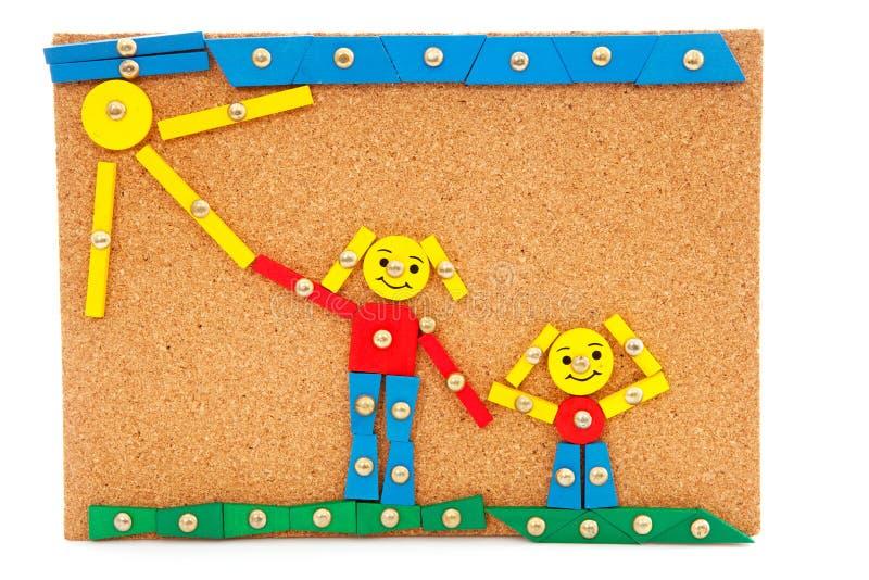 Kreation gebildet von den Kindern lizenzfreies stockfoto