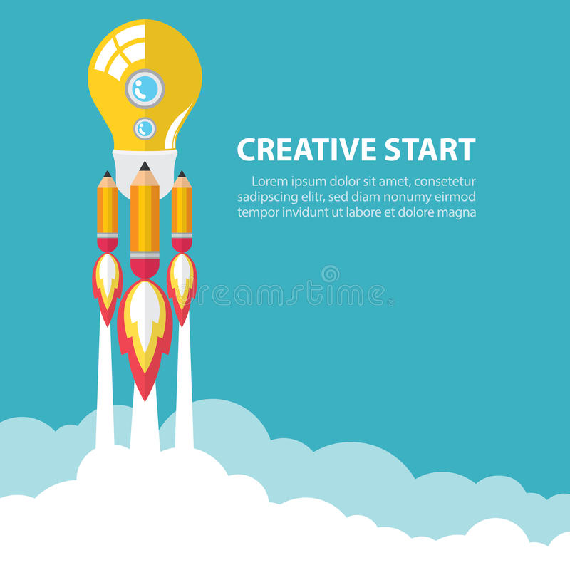 Kreativ beginnen Sie oben vektor abbildung