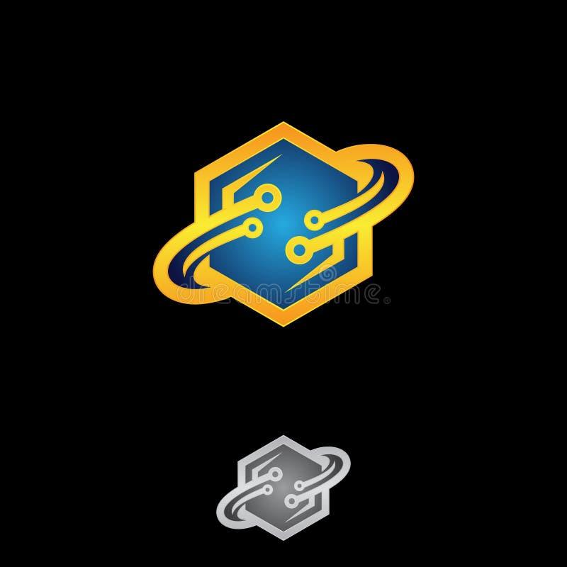 Kreativ, Spaß und buntes Hexagon entwerfen Sie mit Bahnringen lizenzfreie abbildung