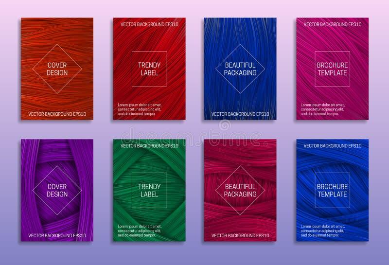 Kreative abstrakte Hintergründe für Abdeckungsentwurf Modische Aufkleber f?r sch?ne Verpackung Farbige Broschürenschablonen stock abbildung