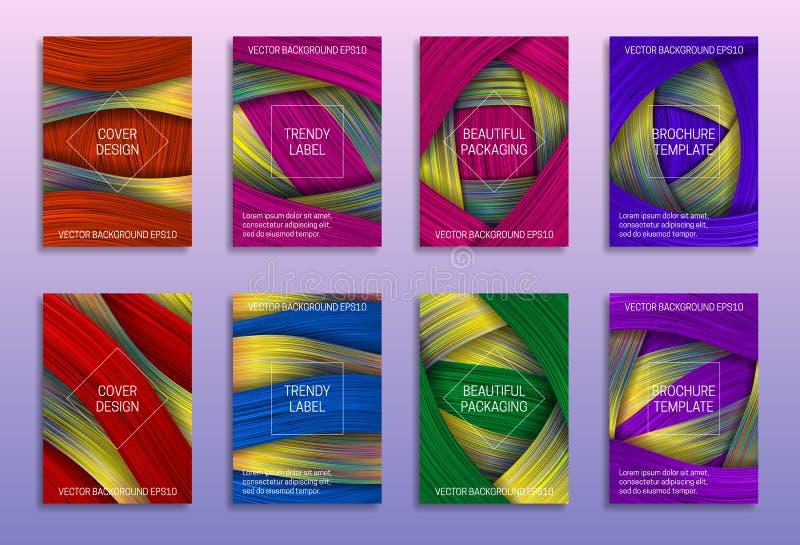 Kreative abstrakte Hintergr?nde f?r Abdeckungsentwurf Modische Aufkleber f?r sch?ne Verpackung Farbige ganz eigenhändig geschrieb vektor abbildung