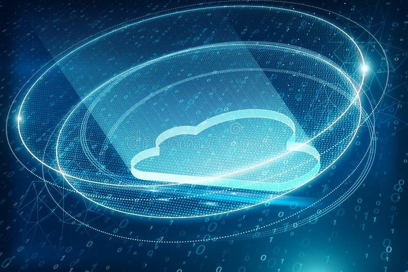 Kreative blaue Wolkendatenverarbeitung vektor abbildung