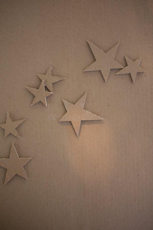 Kreative Dekorationen der Pappe lizenzfreie abbildung