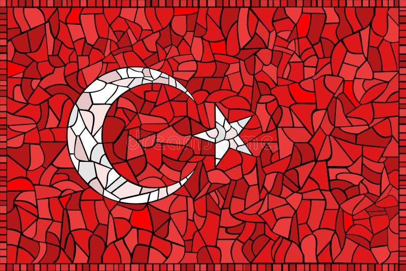Kreative die TÜRKEI-Staatsflagge lizenzfreie abbildung