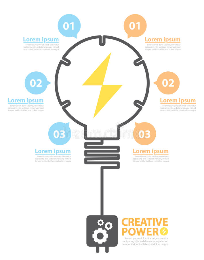 Kreative Energie stock abbildung