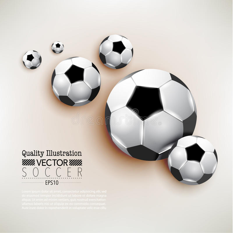 Kreative Fußball-Fußball-Sport-Vektor-Illustration stock abbildung
