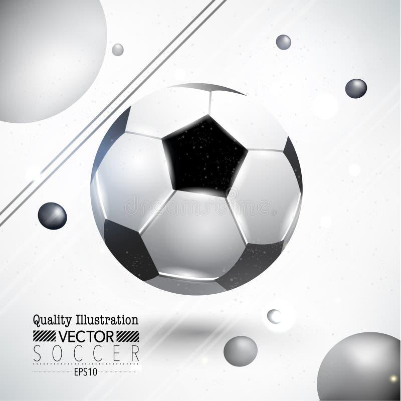 Kreative Fußball-Fußball-Sport-Vektor-Illustration lizenzfreie abbildung