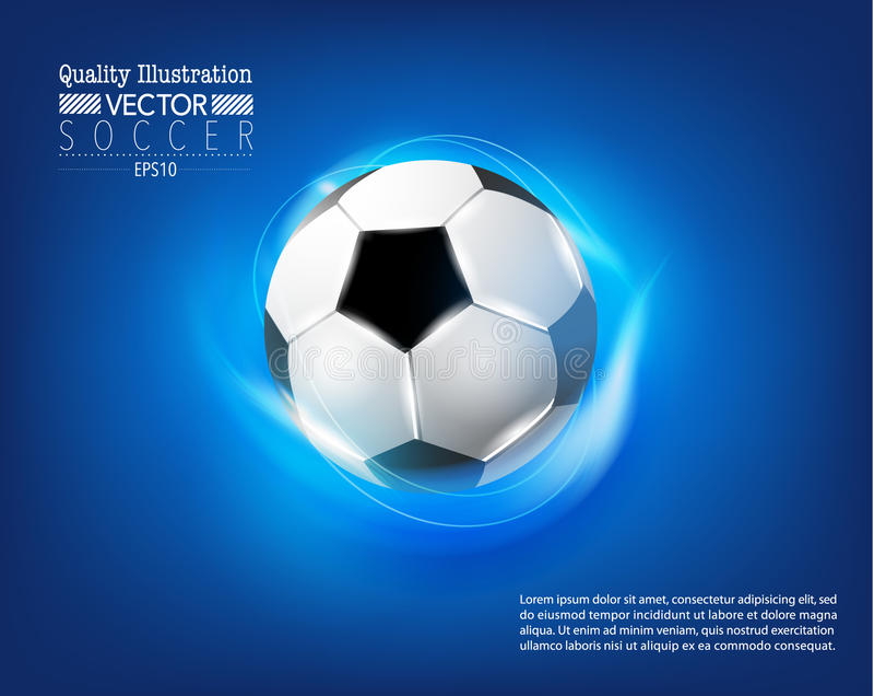 Kreative Fußball-Fußball-Sport-Vektor-Illustration vektor abbildung