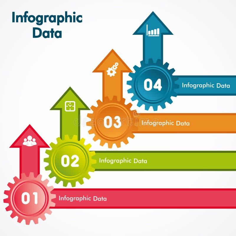 Kreative Gangc$information-graphik-Wahlfahne lizenzfreie abbildung