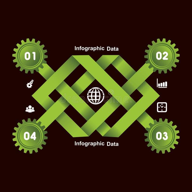 Kreative Gangc$information-graphik-Wahlfahne vektor abbildung